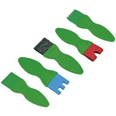 EDUPLAY 240-017 Strukturpinsel flach, 5er Set, mehrfarbig (1 Set)