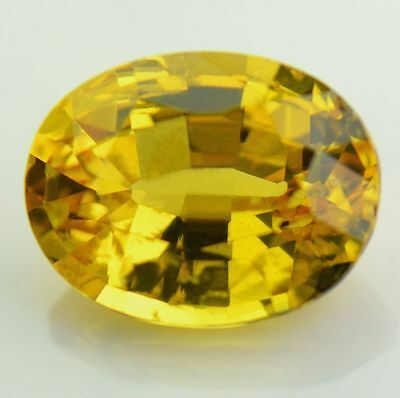 Certified Natural Unheated 0.96ct Oval Yellow Sapphire Untreated VS Madagascar