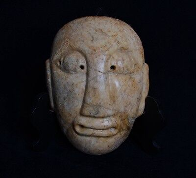 Chinese QiJia Culture Style Sacrificial Ceremony Big Jade Covering Mask-JR12685