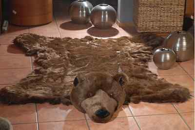 """Fake Fur GRIZZLY BEAR skin bearskin RUG  king LARGE SIZE 76,5"""" 61"""" inches new"""