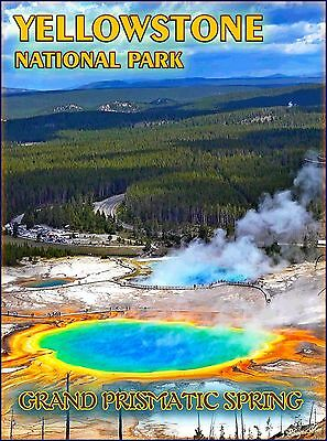 Yellowstone National Park Wyoming United States Travel Advertisement Poster 2