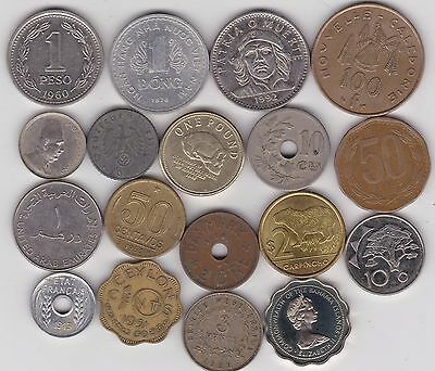18 Mixed World Coins In Fine To Mint Condition