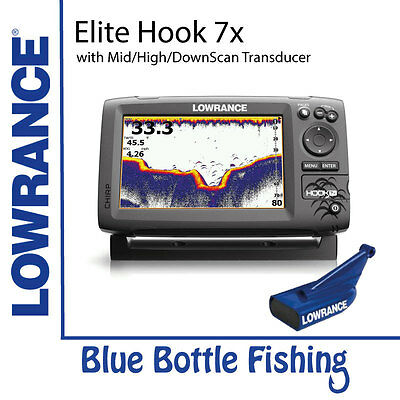 NEW Lowrance Elite Hook-7x  Mid/High/DownScan from Blue Bottle Fishing