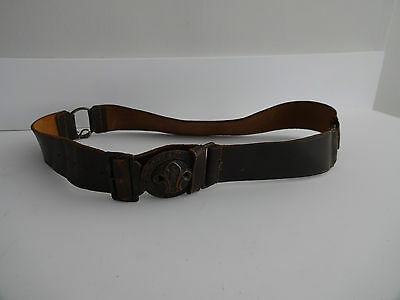 "VINTAGE 1950s LEATHER BOY SCOUTS ""BE PREPARED BELT"""