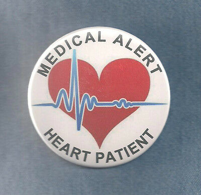 MEDICAL ALERT HEART PATIENT service dog badge pin - instead of service dog patch