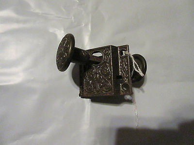 Eastlake Victorian Brass Knob Cabinet Latch Cupboard Door