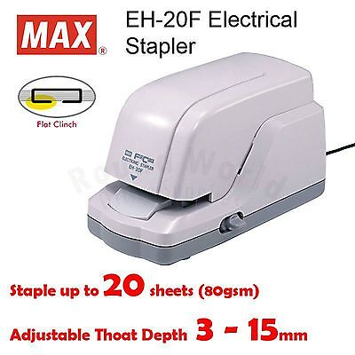 MAX EH-20F Electronic Flat Clinch Stapler (2 - 20 pages)  - 220V