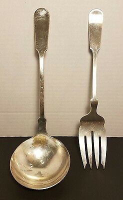 THE BAILEY BANKS & BIDDLE CO Fine Silverplate Serving Fork and Ladle