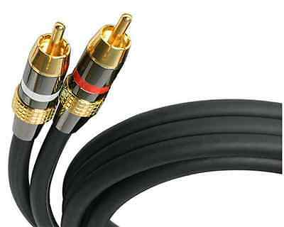 Startech Premium 12ft  RCA Audio Cable Double Male Stereo New