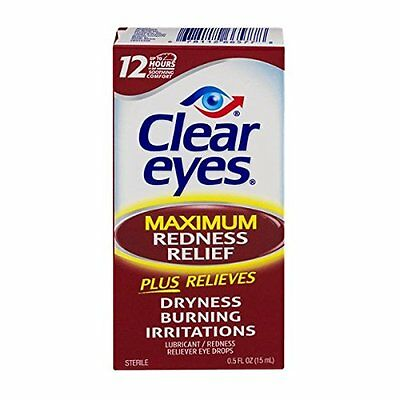 Clear Eyes Maximum Strength Redness Relief, 0.5 Oz usa import
