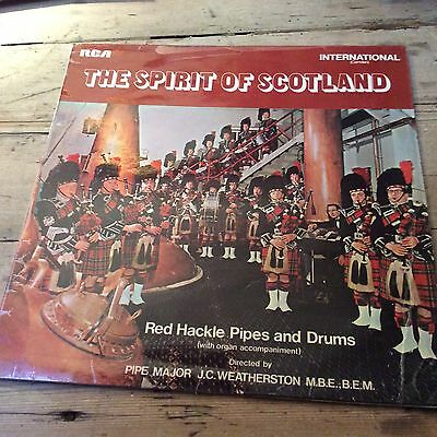 red hackle pipes & drums-pipe major j.c.weatherston spirit of scotland l.p.