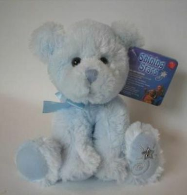 New with Tag Blue Bear Plush Shining Stars Russ Berrie 34423