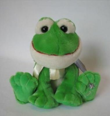 New with Tag Frog Plush Shining Stars Russ Berrie 34435