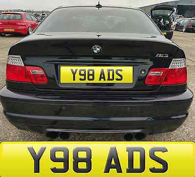 Y98 Ads Add Adam Ads Adm Addy Private Cherished Number Plate Fees Included