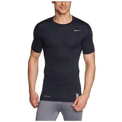 Nike Pro Combat Core Compression 2.0 Top Tshirt Size S Small Muscle Fitted Black