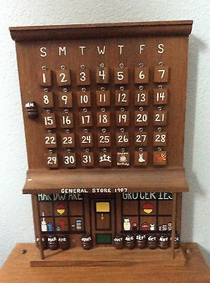 Perpetual Wood calendar Vintage Home Made One Of A Kind General Store