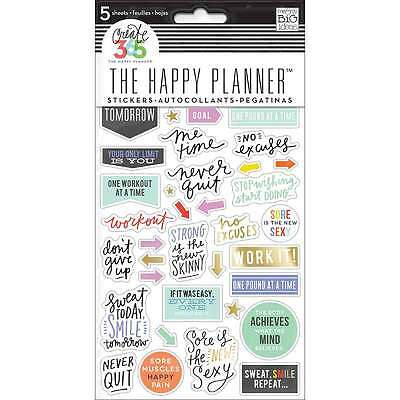 Create 365 Planner Stickers 5 Sheets/Pkg-Fitness 673807993020