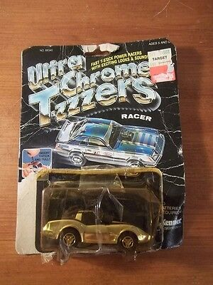 Vintage Kenner 1981 Ultra Chrome T-Zzzers Racer Gold Car T-Stick Power New