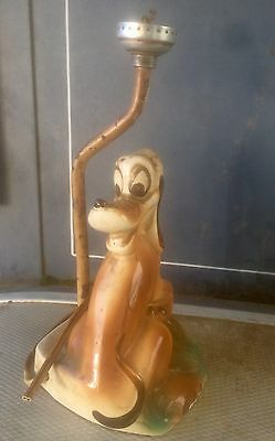 Rare 1940's Walt Disney Pluto Lamp Base. Condition Issues. Will Need Rebuilding