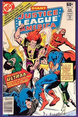 JUSTICE LEAGUE OF AMERICA 153 April 1978 8.0-8.5 VF/VF+ DC COMICS RICH BUCKLER!!