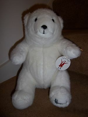 HARRODS FOOT DATED 1989 CHRISTMAS 28th BIRTHDAY GIFT POLAR BEAR NEW XMAS TAG
