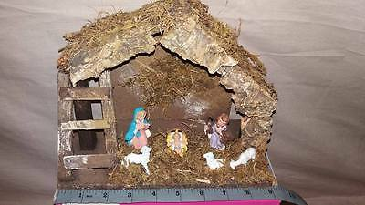 Christmas Nativity Set Hand Painted and Crafted - Boxed - Free UK Post