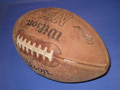 WILSON NFL PETE ROZELLE LEATHER GAME FOOTBALL RARE VINTAGE with VANDY BRAND 21E3