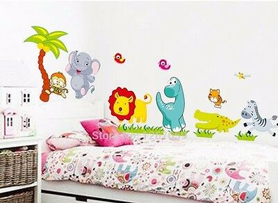 animals zoo jungle large wall sticker decal children/kids bedroom mural