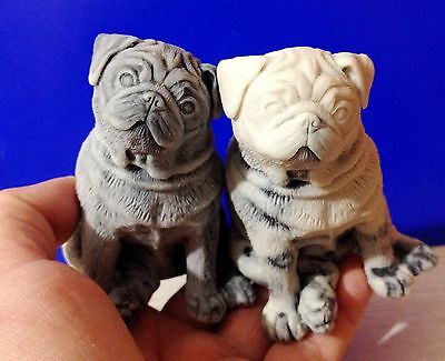 Pug figrines Dogs  marble chips realistic Souvenirs from Russia Pug funny