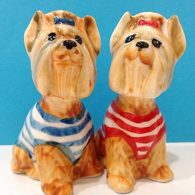 Yorkshire Terrier porcelain figurines Dog realistic Souvenirs dog collection art