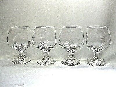 Libbey Chivalry-Rock Sharpe .. Set Of 4 .. Brandy Glasses Or Snifters