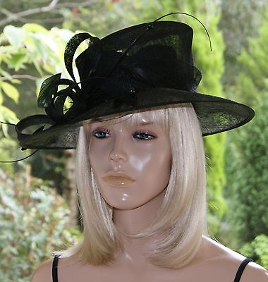 Black/Wedding/By Linea/ Occasion/Races/Mother of the Bride/Formal/Hat