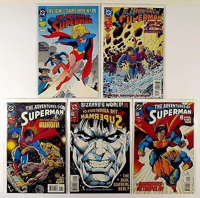 The Adventures Of Superman Dc Lot Of 5 Comics #502 508 509 510 511 (Vf/nm)