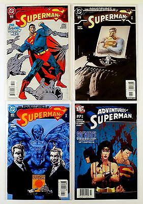 The Adventures Of Superman Dc Lot Of 4 Comics #615 616 617 643 (Vf/nm)