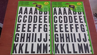 "Mailbox Letters and Symbols - 77 2"" white black adhesive - Hy-Ko - Lot of 2 NEW!"