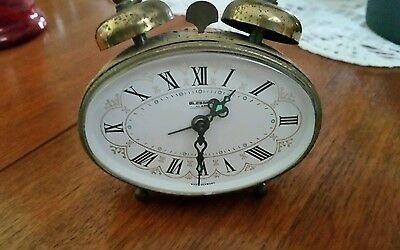 "West German Made ""blessing"" Alarm-Working Ornate Gold Finish Bedside Clock"
