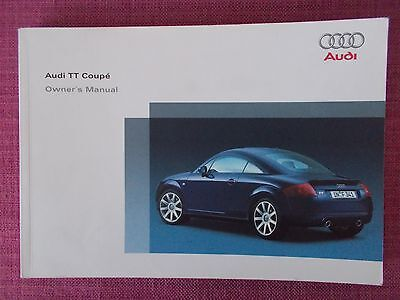 Audi Tt Coupe (1999 - 2006) Owners Manual - Owners Guide - Handbook. (Au 560)