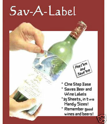 25 Wine Beer Champagne Label Remover Saver Preserver Labeloff Laminate Lift