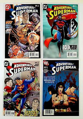 The Adventures Of Superman Dc Lot Of 4 Comics #638 639 640 643 (Vf/nm)
