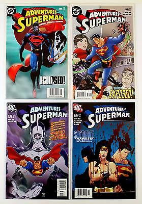 The Adventures Of Superman Dc Lot Of 4 Comics #639 640 641 643 (Vf/nm)