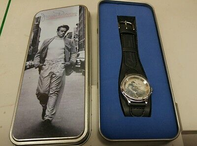 James Dean 50th anniversary watch w/collectors tin - Brand New Avon