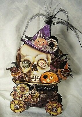 Bethany Lowe Skeleton Steampunk Halloween Treat Candy Container