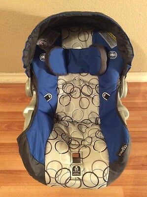 Evenflo Embrace Baby Infant Car Seat Cover Cushion Canopy Part Blue Black Silver