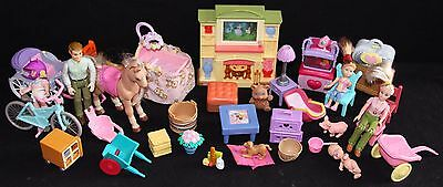 Plastic Furniture and Accessories for Plastic Doll Houses - HUGE & RARE lot # 4