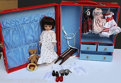 8 Tiny Betsy Mccall Doll 50Th Anniversary Red Trunk Bear Sled Outfits Dress Free