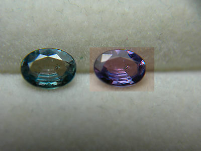 VERY RARE Alexandrite Gem Color Change BRAZIL Blue Green to Purple Oval Natural