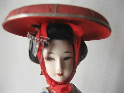 JAPANESE DOLL on STAND 15 3/4 inch (40cm) vintage