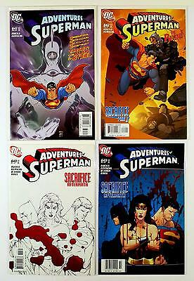 The Adventures Of Superman Dc Lot Of 4 Comics #641 642 643 Sketch 643 (Vf/nm)