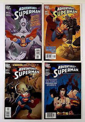 The Adventures Of Superman Dc Lot Of 4 Comics #641 642 645 643 (Vf/nm)