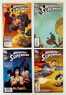 The Adventures Of Superman Dc Lot Of 4 Comics #642 646 643 647 (Vf/nm)